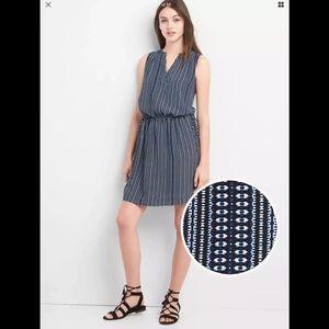 Gap Sleeveless Shirt Tie Dress Size Small